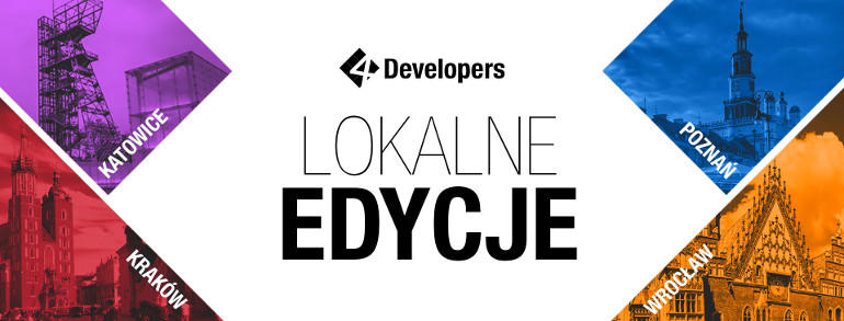 Local editions of 4Developers 2019