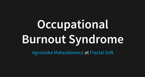Occupational Burnout Syndrome